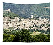 Assisi Italy - Medieval Hilltop City Tapestry