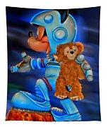 Astronaut Training Bear Tapestry