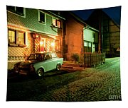 At Night In Thuringia Village Germany Tapestry