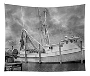 At Rest In The Harbor Tapestry