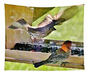 At The Birdfeeder Tapestry