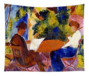 At The Garden Table Tapestry