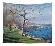 At The Park By Lake Ontario Tapestry