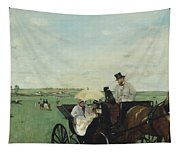 At The Races In The Countryside Tapestry