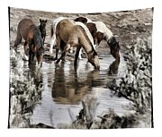 At The Watering Hole 1 Tapestry