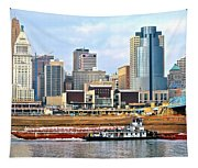 At Work On The Ohio River Tapestry