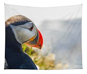 Atalantic Sea Puffin In Close Up Tapestry