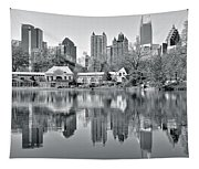 Atlanta Reflecting In Black And White Tapestry