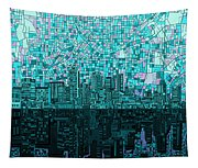 Atlanta Skyline Abstract 2 Tapestry