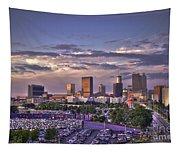 Atlanta Sunset Fulton County Stadium Braves Game  Tapestry