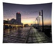 Atlantic City Boardwalk In The Morning Tapestry