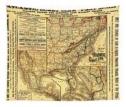 Atlantic Coast Line Railway Map 1885 Tapestry