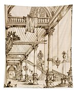 Atrium Of A Palace, In Genes, From Art Tapestry