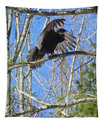 Attack Of The Turkey Vulture Tapestry
