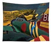 Attack On Battleship Row Tapestry