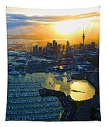 Auckland Oil On Canvaz Tapestry