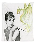 Audrey And Her Magic Dragon Tapestry
