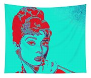 Audrey Hepburn 20130330v2p128 Square Tapestry