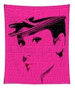 Audrey Hepburn 4 Tapestry