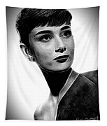 Audrey Hepburn - Black And White Tapestry