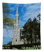 Augustinian Cemetery And Church Tapestry