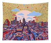 Austin Texas Abstract Panorama 2 Tapestry