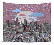 Austin Texas Abstract Panorama 3 Tapestry