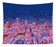 Austin Texas Abstract Panorama Tapestry