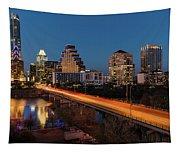 Austin, Texas Cityscape Evening Skyline Tapestry