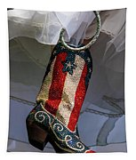 Austin Texas - Red White Blue Sequin Tapestry