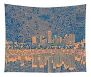 Austin Texas Skyline 2 Tapestry