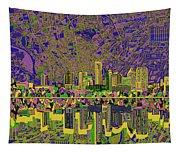 Austin Texas Skyline Tapestry