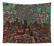 Austin Texas Vintage Panorama 3 Tapestry