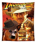 Australian Cattle Dog Art Canvas Print - Indiana Jones Movie Poster Tapestry