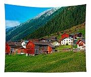 Austrian Village Tapestry