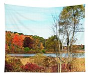 Autmn Pond Closer Look Tapestry