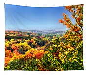 Autumn Across The Hills Tapestry