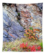 Autumn And Rocks Vertical Tapestry