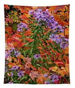 Autumn Asters Tapestry