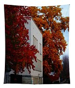 Autumn At The Grants Pass Courthouse Tapestry
