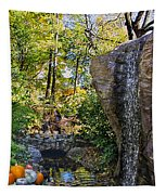 Autumn At The Waterfall Tapestry