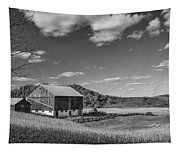 Autumn Barn Monochrome Tapestry