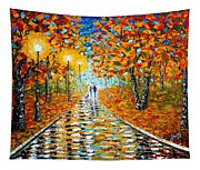 Autumn Beauty Original Palette Knife Painting Tapestry
