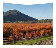 Autumn Blueberry Panorama Tapestry