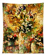 Autumn Bounty - Abstract Expressionism Tapestry