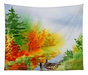 Autumn Burst Of Fall Impressionism Tapestry