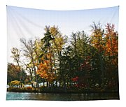 Autumn Color On The Fulton Chain Of Lakes Tapestry