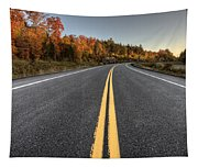 Autumn Colors And Road  Tapestry