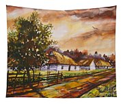 Autumn Cottages Tapestry