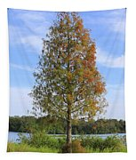 Autumn Cypress Tree Tapestry